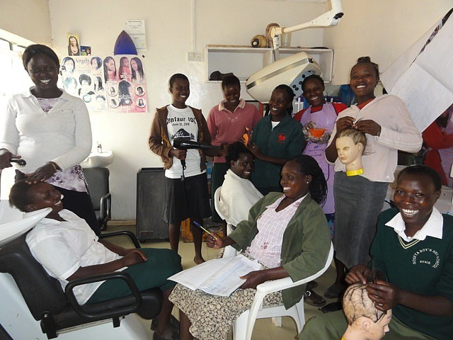 Students in Hairdressing and Beauty Therapy