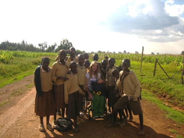 Volunteer Charlotte and children