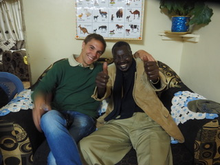 Volunteer Victor with host father Michael