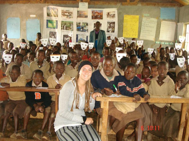 volunteer Anne teaching at Lelit Primary Chepkanga