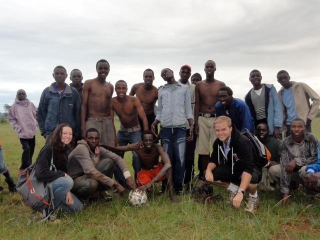 volunteer Ciara Nicholas and soccer teams