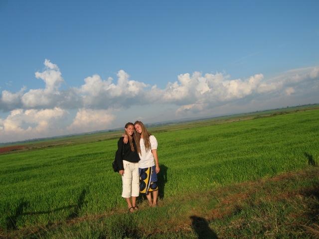 volunuteer Anne Alia wheat fields